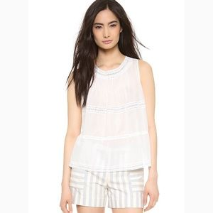 Madewell Memento Tank Lace Summer Top Size XS